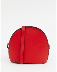 ASOS DESIGN Mini Leather Half Moon Cross Body Bag