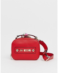 Love Moschino Mini Logo Bag In Red With Detatchable Scarf
