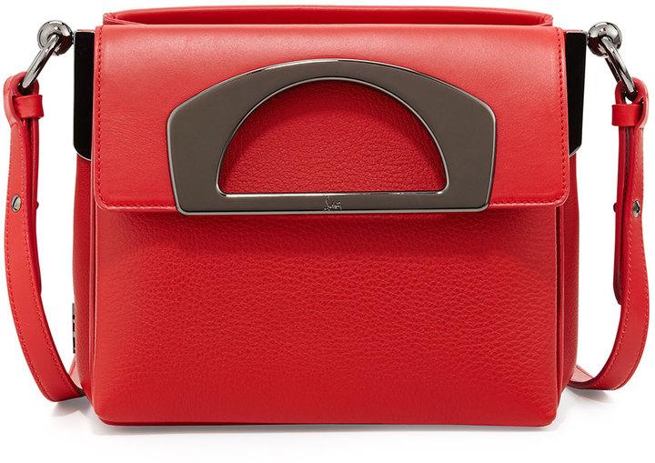 bdfc1283088 $1,795, Christian Louboutin Mini Passage Leather Crossbody Bag Red