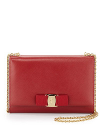 Salvatore Ferragamo Miss Vara Bow Clip Crossbody Bag Rosso