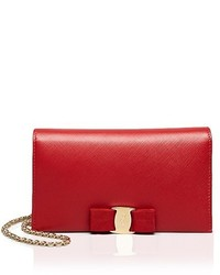 Salvatore Ferragamo Miss Vara Bow Soft Leather Chain Wallet