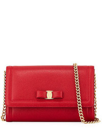 Salvatore Ferragamo Miss Vara Mini Crossbody Bag Red