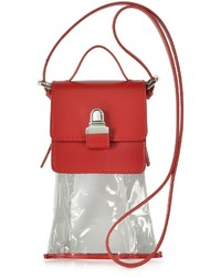 Mm6 Maison Martin Margiela Mini Red Leather Crossbody Bag