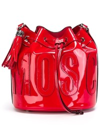 Moschino Stitched Logo Crossbody Bag