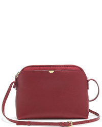 The Row Multi Pouch Calfskin Crossbody Bag Beet