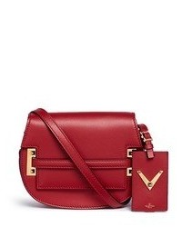 Valentino My Rockstud Small Crossbody Leather Saddle Bag