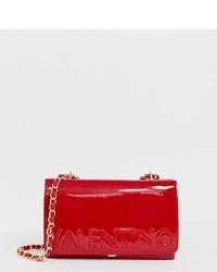 Valentino by Mario Valentino Patent Cross Body Bag In Red