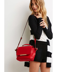Forever 21 Plated Faux Leather Crossbody