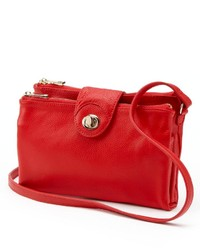 R R Leather Crossbody Bag
