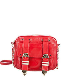 Rebecca Minkoff Buckle Embellished Leather Crossbody Bag