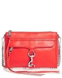 Rebecca Minkoff Mini Mac Convertible Crossbody Bag Red