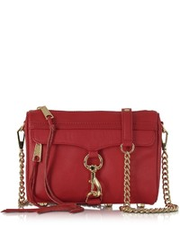 Rebecca Minkoff Mini Mac Deep Red Leather Crossbody Bag