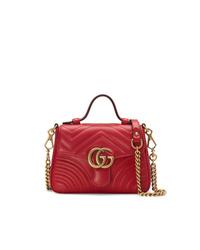Gucci Red Gg Marmont Mini Bag