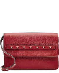 RED Valentino Red Valentino Leather Shoulder Bag With Stud Embellisht