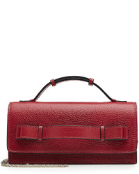 RED Valentino Red Valentino Leather Shoulder Bag With Chain