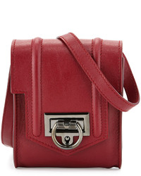 Reece Hudson Siren Mini Leather Crossbody Bag Red
