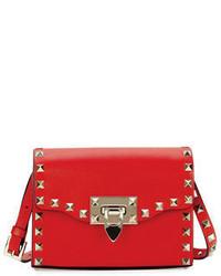 Valentino Garavani Rockstud Mini Leather Flap Shoulder Bag