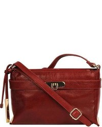 Wilsons Leather Roma Front Lock Leather Crossbody