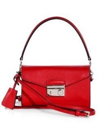 Prada Saffiano Leather Mini Sound Crossbody Bag