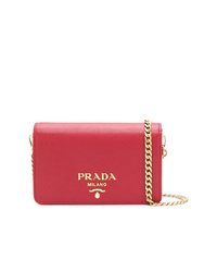 Prada Saffiano Logo Shoulder Bag