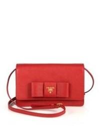 Prada Saffiano Lux Bow Crossbody Bag