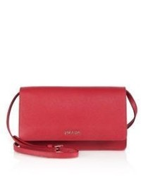 Prada Saffiano Lux Small Crossbody Bag