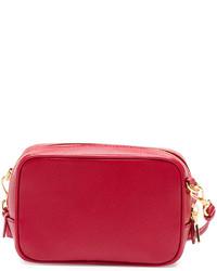 352fd0fa5586 ... Prada Saffiano Mini Zip Crossbody Bag Red ...