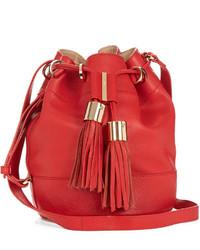 See by Chloe See By Chlo Vicki Medium Leather Cross Body Bucket Bag
