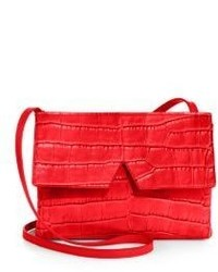 Vince Signature Croc Embossed Crossbody Bag