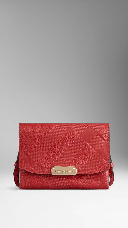 f58a17492038 ... Bags Burberry Small Embossed Check Leather Crossbody Bag ...