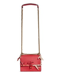 Fendi Small Kan Stitch Leather Shoulder Bag