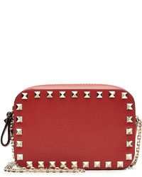 Valentino Small Leather Rockstud Shoulder Bag