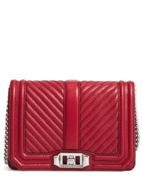 Rebecca Minkoff Small Love Leather Crossbody Bag Red