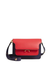 Marni Small Trunk Colorblock Leather Shoulder Bag