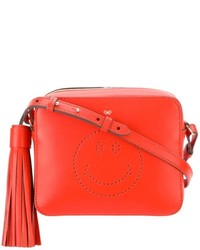 Anya Hindmarch Smiley Leather Cross Body Leather Bag