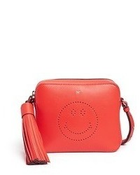 Anya Hindmarch Smiley Perforated Leather Crossbody Bag