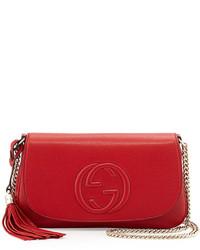 Gucci Soho Medium Crossbody Bag Red