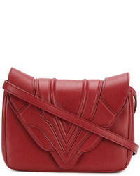 Elena Ghisellini Stitched Panel Cross Body Bag