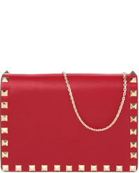 Valentino Studded Nappa Leather Cross Body Pouch