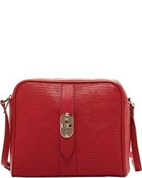 Susu Baxter Mermaid Leather Crossbody Red