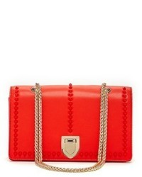 Susu Josie Leather Red Crossbody Bag With Studs
