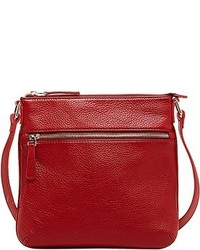Susu Saxon Leather Crossbody Red