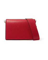 Valextra Swing Textured Leather Shoulder Bag