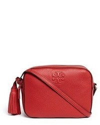 Tory Burch Thea Pebbled Leather Crossbody Tassel Bag