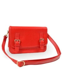 TheDapperTie Red Crossbody Rose Gold Toned Hardware Handbag A128