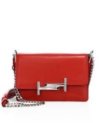 Tod's Double T Mini Leather Chain Shoulder Bag