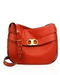 Tory Burch Gemini Leather Hobo Crossbody Bag