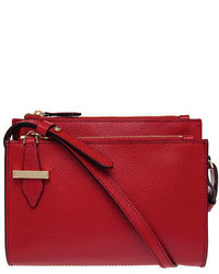 Lodis Trisha Double Zip Leather Mini Crossbody