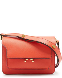 Marni Trunk Mini Saffiano Leather Cross Body Bag