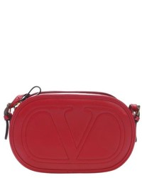 RED Valentino Valentino Red Leather Logo Go Crossbody Bag